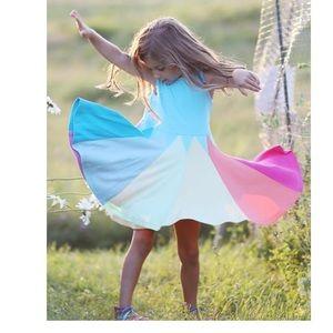 4T Rainbow Full Skirt Sundress 100%Cotton
